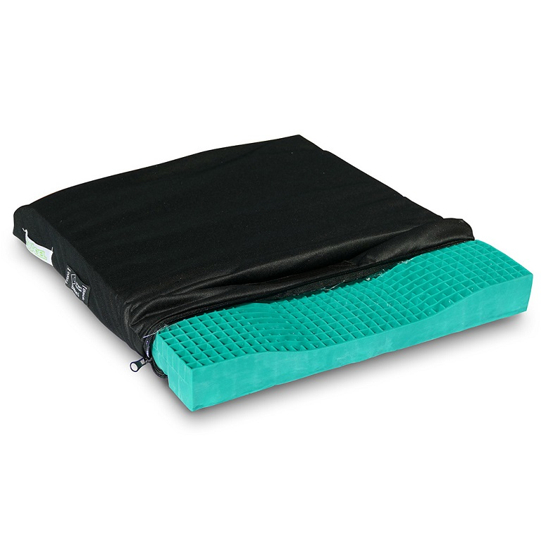 Equagel General Gel Wheelchair Cushion With Sculpted