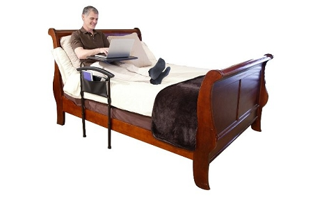 independence bed tablestanders bed rail with swivel tray