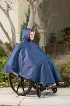 Wheelchair Winter Poncho in Navy