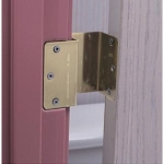Brass Offset Swing Clear Door Hinges - Discontinued