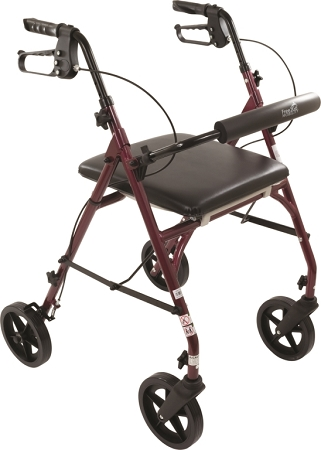 Free2go Rollator Walker Combination Walking Aid Raised