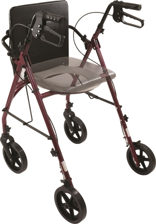 Free2go rollator walker combination walking aid raised for Mobility walker