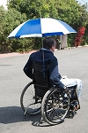 Hands Free Umbrella for Wheelchairs - Discontinued