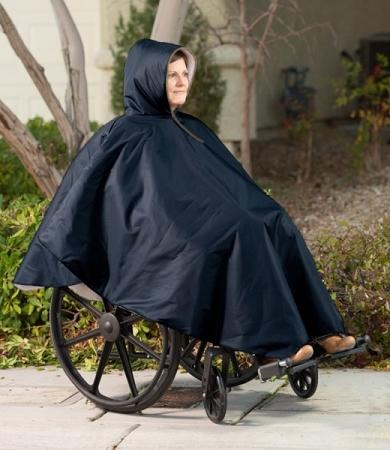 Wheelchair-Winter-Poncho-Navy