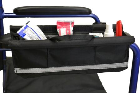 Wheelchair Armrest Pocket Bag Shown Closed
