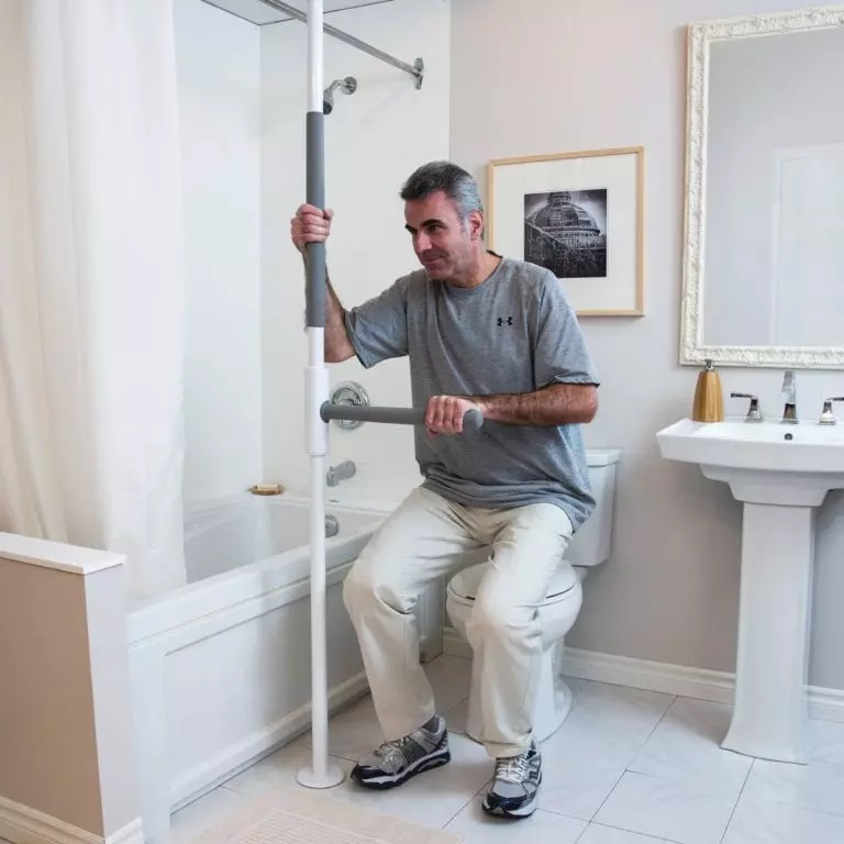 Yanjun Toilet Safety Assist Frame w Grab Bars Railings for
