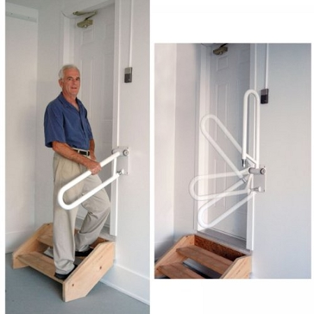 Pt Angled Hand Rail Adjustable Safety Rail For Steps