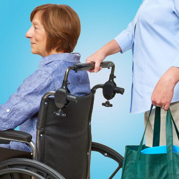 Push Bar For Wheelchairs Makes Pushing Wheelchair Easier