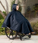 Wheelchair Winter Poncho Navy