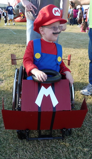 Wheelchair Mario Kart costume