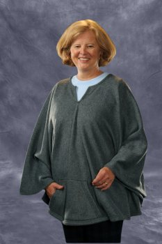 Granny Jo Fleece Wheelchair Poncho