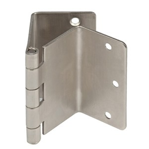 Offset Swing Clear Door Hinges Satin Nickel Expandable