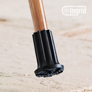 Ingrid Classic Cane & Crutch Tip Medium Black