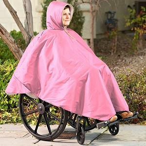 Wheelchair Winter Poncho Pink