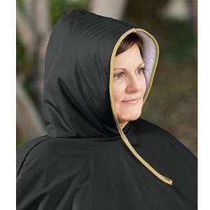 Wheelchair Winter Poncho Black