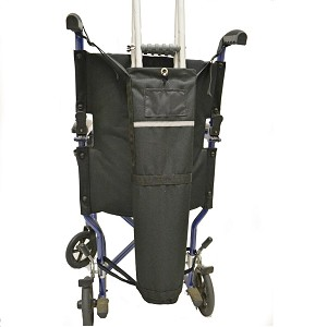 Crutch Holder for Wheelchairs or Scooters