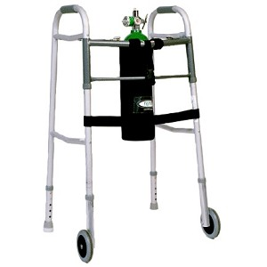 TO2TE D Size Oxygen Cylinder Holder for Walkers