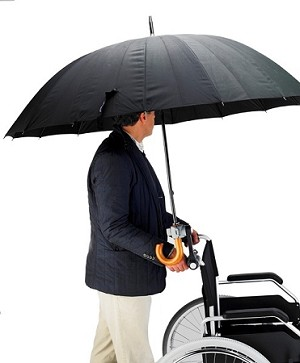 Dry-Go Adjustable Wheelchair Umbrella Holder - Discontinued