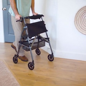 Easy Fold and Go Rollator by Standers