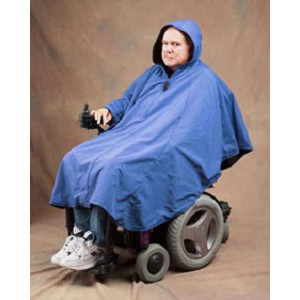 Fleece Lined Hooded Poncho - Discontinued
